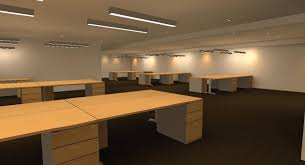 lighting in an office. 1 lighting in an open office