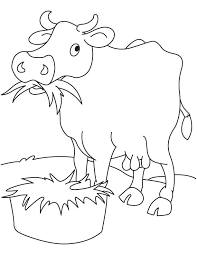 Small Picture Grass eating cow coloring page Download Free Grass eating cow