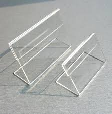 clear acrylic plastic table sign tag label display paper promotion card holders thick l stand