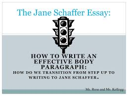 Ppt The Jane Schaffer Essay Powerpoint Presentation Id