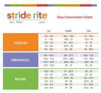 Stride Rite Measuring Chart Stride Rite Size Chart Age