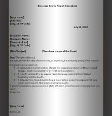 Cover Page For Resume Template 62 Images Cover Letter Samples