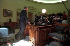 oval office history. After Talking With Governor George Pataki And Mayor Rudolph Giuliani In A Televised Telephone Conversation, Oval Office History F