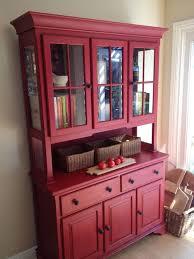 ideas china hutch decor pinterest: red china cabinet hutch sold by emptynestrestoration on etsy