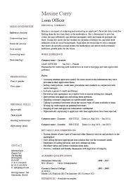 Loan Specialist Sample Resume Extraordinary Sample Resume Bank Loan Officer For Letsdeliverco