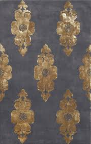 compass charcoal gold rug