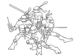 Kleurplaat Van Ninja Turtles Double Frisson