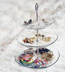 diy jewelry stands | diy jewelry storage tips glass tiered stand ikea