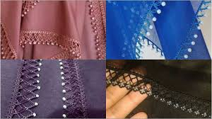 Beads Design Ideas Clothes Evergreen Latest Trend Of Crochet Sleeves Lac And Duppata Laceswith Beads Pearls Design Ideas
