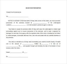 30 day eviction notice forms eviction letter to tenant letter of eviction eviction notice
