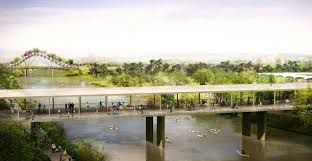 rendering of the houston botanic garden a 120 acre attraction planned for completion in