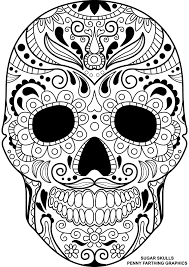 Free Sugar Skull Coloring Pages For Adults Colouring Printable