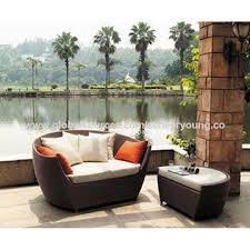 china new design best quality wicker furniture garden sunbed outdoor rattan lounger