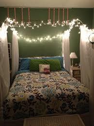 teenage girl bedroom lighting. canopy frame white christmas lights crinkle sheers u003d happy teen girl room teenage bedroom lighting o