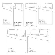 Size Of A Twin Quilt Standard Australian Bed Size Chart