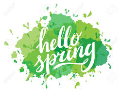 Calligraphy Backgrounds Hello Spring Hand Drawn Calligraphy And Brush Pen Lettering