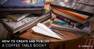 how to create and publish a coffee table book