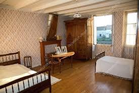 wooden bedroom wooden bedroom in ancient french house with old furniture stock photo wooden bedroom door
