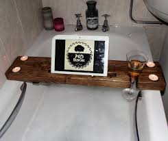 bath tray bathroom pretty homcom bathtub caddy shelf tub holder