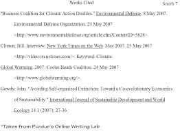 Work Cited Page Mla Format Template Citation In Essay Example