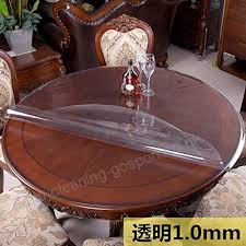 nclon round pvc vinyl table cover desk tabletop protector clear plastic tablecloth thicken waterproof wipeable protective