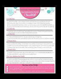 Bachelorette Party Checklist Templates At