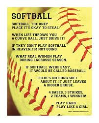 pics of softball sayings amazon com softball sayings 13 75 x 17 vinyl wall decal home