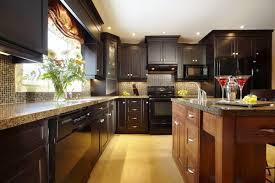 Dark Wood Cabinets Kitchen Paint Colors To Go With Dark Kitchen Cabinets Monsterlune