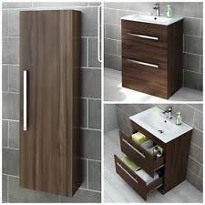 modern bathroom storage cabinets. Modren Bathroom Walnut Modern Bathroom Furniture Storage Cabinet U0026 Basin Vanity Unit In Cabinets R