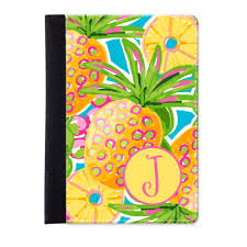 preppy pineapple personalized ipad folio case monogrammed ipad jacket