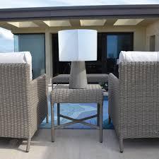 inda outdoor cordless concrete table lamp light gray