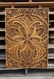 laser cut wood wall art by gabriel schama