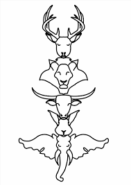 Small Picture Best Totem Pole Animals Coloring Pages Photos Coloring Page