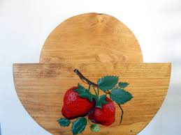 paper plate holder wooden paper plate holder strawberry
