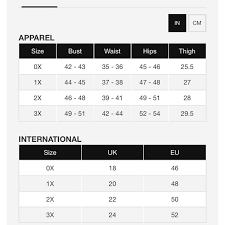 Forever 21 Plus Size Chart