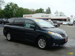 2011 South Pacific Blue Pearl Toyota Sienna XLE #49418273 ...