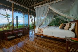 Rainforest Bedroom Bungalows In The Rainforest With Oceanviews At Lapa Rios