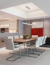 dining lighting. Modern Dining Room With Square Linear Pendant Light Fixture Lighting