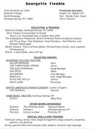 American Resume Template Actor Resume Special Skills Actor Resume ...