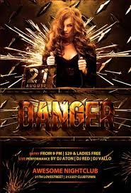 Club Flyer Templates Free Download Danger Club Free Psd Flyer Template
