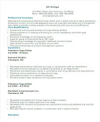 Freelance Resume Samples Freelance Video Editor Resume Video Resume ...