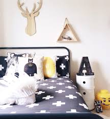 attractive wall decal with batman bedroom for bedroom decoration with cool pattern bedding also white bedside