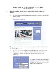 Guide How To Access Iium E Learning For Staff Login User Computing