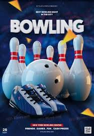 Bowling Event Flyer Template Bowling Psd Flyer Template