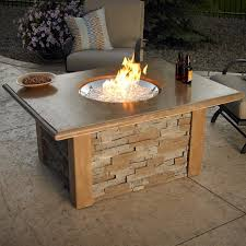 stonefire round crystal gas fire pit table 32