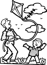 Playing kite coloring pages - ColoringStar