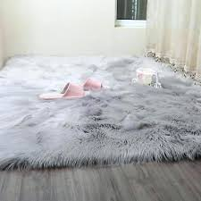 faux sheepskin rugs plain soft fluffy bedroom fur fake washable area mats canada faux sheepskin rugs