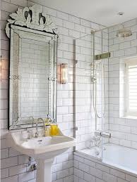bathroom vanity mirrors. Artistic Venetian Bathroom Vanity Mirror In An Industrial Style With White Sink And Rain Shower Mirrors