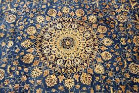 fine persian carpet kashmar 3 70 x 2 97 gold blue handwoven in iran high quality new