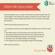 Brain Teaser - Mystery Riddle | brain teasers | Pinterest ...